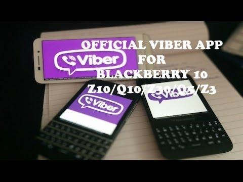 comment installer viber sur blackberry