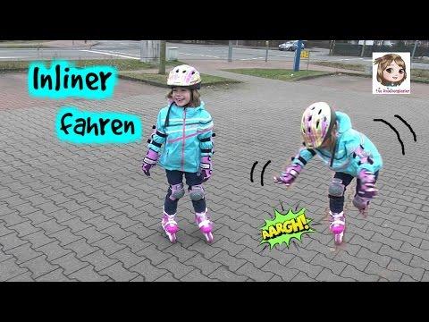 INLINER FAHREN - Hannah fährt auf Inlineskates - Rollerblading für Anfänger