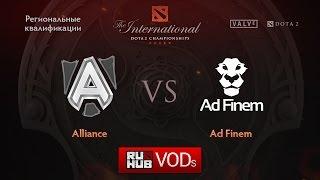 Alliance vs Ad Finem, game 1