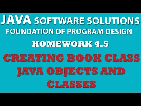Java: Creating Book Class (Ex 4-5) – Java OOP, Objects, Classes, Setters, Getters