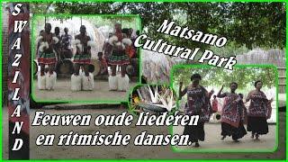 Bezoek aan het Matsamo Cultural Park op de grens van Zuid Afrika en Swaziland.