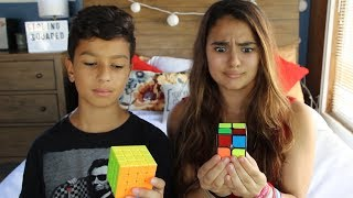 My Brother Teaches Me How to Solve A Rubik's Cube
