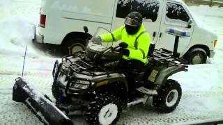 8. ATV Plowing Snow-3 Arctic Cat  Diesel