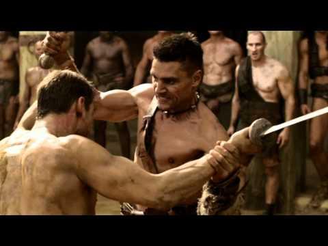 Spartacus Ep.2 #2 - Lotta tra Spartacus e Crixus:  La serie TV narra le gesta di un Trace dal nome sconosciuto, che si ribella alle truppe romane e vine fatto schiavo, si riscatterà come gladiatore con il nome di Spartacus, nella macabra e sanguinaria arena.http://www.cielotv.it/programmi/serietv/spartacus.html Spartacus - ogni lunedì alle 23.00 su Cielo