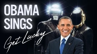 Barack Obama Singing Get Lucky by Daft Punk (ft. Pharrell) - YouTube
