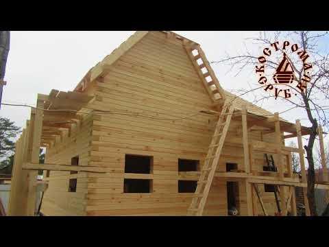 Строительство двухэтажного дома из бруса за три недели