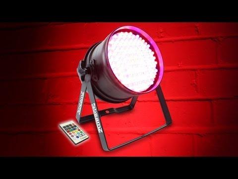 Beamz PAR 64 Can RGB Colour LED Uplighter Wash Light Party Disco DMX DJ Lighting