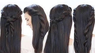 4 Peinados fáciles con trenzas de cordón - YouTube