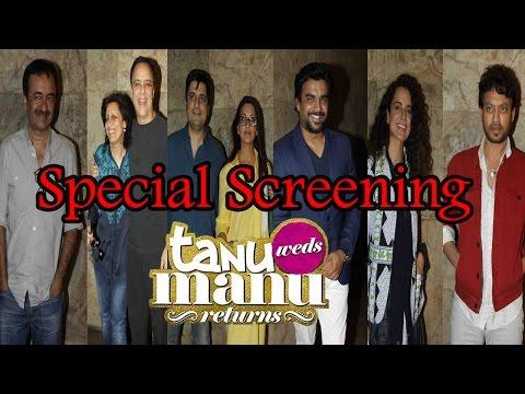 Irrfan Khan, Rajkumar Hirani, Kangana Ranaut & Others At Screening Of Film Tanu Weds Manu Returns