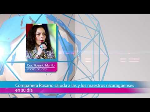 Compañera Rosario saluda a las y los maestros nicaragüenses en su día