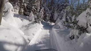 8. SkiDoo Blizzard 900 ACE .Snowmobile ride southern Vt 3/18/18