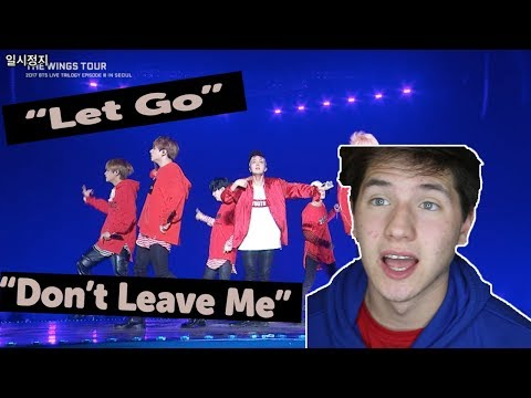 FIRST TIME LIVE!?  BTS 'Don't Leave Me' & 'Let Go' *LIVE* Performance REACTION
