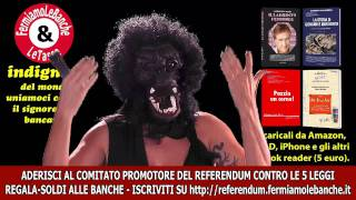 Video Rossy de Palma per Marra: Indignati: referendum contro banche