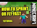 MINECRAFT ( PS3 / PS4 ) HOW TO SPRINT OR FLY FAST - TUTORIAL ( XBOX / PC / PE ) WII
