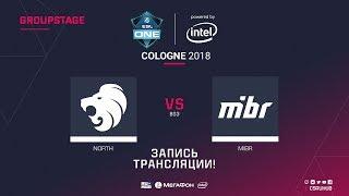 North vs MIBR - ESL One Cologne 2018 - map1 - de_mirage [CrystalMay, yXo]