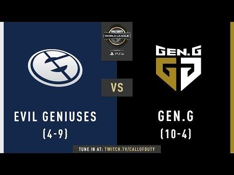 Evil Geniuses vs Gen.G | CWL Pro League 2019 | Division A | Week 7 | Day 4