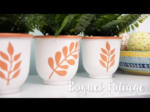 How to Stencil Using Bouquet Foliage - Sizzix