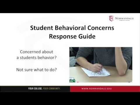 Student Behavioral Concerns Resource and Response Guide