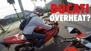Video Riding sore pake Ducati 848! + Trio Ducati overheat :( #motovlog Indonesia MP3, 3GP, MP4, WEBM, AVI, FLV Juni 2017