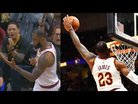 LeBron James CAN'T BELIEVE HIS OWN DUNK!!! (видео)