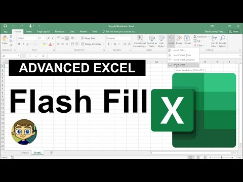 Advanced Excel - Flash Fill Tutorial 2018