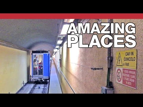 Tom Scott Rides the Strangest Elevator In Italy That Travels Both Vertically and