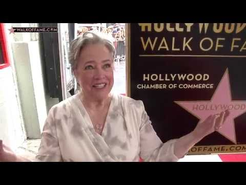 Kathy Bates Walk of Fame Ceremony
