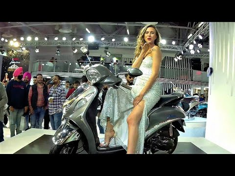 Yamaha Fascino Special Edition  Silver Diamond  Auto Expo  2018