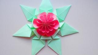 Цветок из бумаги Идея декора подарков