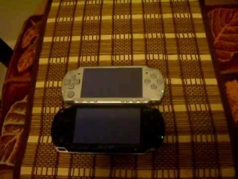 PSP Phat with 3.71 Fatmsmod Vs Normal Slim