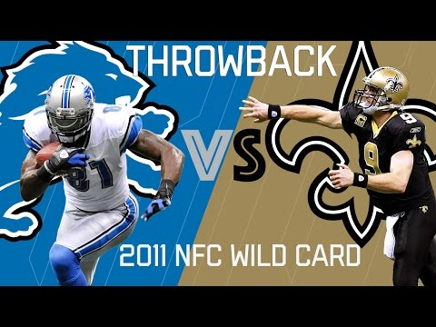 Lions vs. Saints (2011 NFC Wild Card) | Brees Outlasts Calvin Johnson | NFL Classic Highlights (видео)