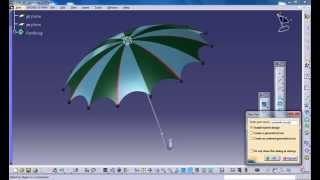 Catia V5 Tutorial|How to Design an Umbrella P1|Product Design Engineering Beginner's
