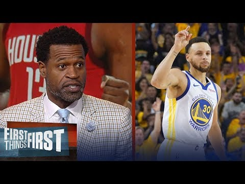 Steph Curry isn't underrated, Stephen Jackson talks Rockets Game 1 win | NBA | FIRST THINGS FIRST
