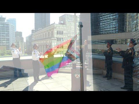 @TorontoPolice Chief Ramer Raises 'Progress Pride' Flag to Launch #HappyPrideMonth2021