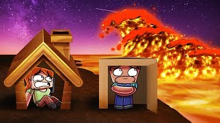 Minecraft | BASE VS LAVA TSUNAMI - Lava Tsunami Challenge! (Will We Survive?)