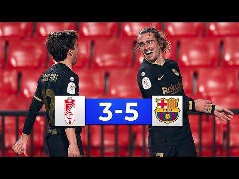 Granada vs Barcelona 3-5 - All Goals & Highlights 2021