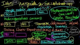 Matrices and Linear Equations YouTube video