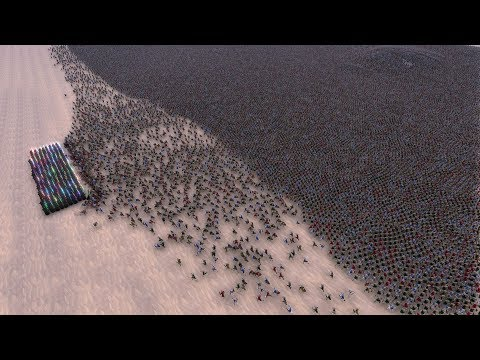 A Fight Between 300 Jedi And 60 000 Medieval Knights Ultimate Epic Battle