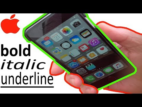 IPhone How to Bold Italic Underline text - How to edit and format text on iPhone and iPad