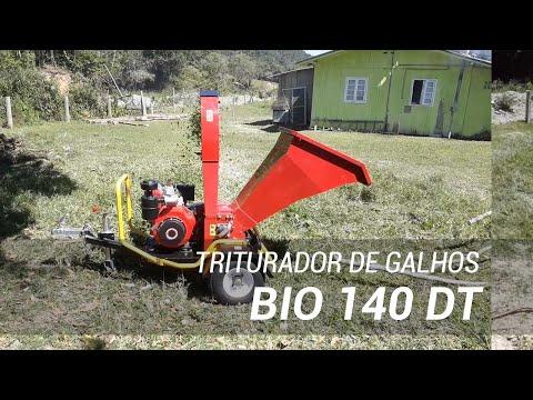 Triturador de galhos com motor diesel de 12 HP BIO 140 DT