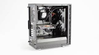 Built around AMD's Ryzen 1700X with Gigabyte Aorus and Fractal Design Parts, the Mwave Define Zen Gaming PC is all about silent performance.Product Link: https://www.mwave.com.au/product/mwave-define-zen-gaming-pc-ac03068Parts list: -Fractal Design Kelvin S24 Liquid CPU Cooler-Fractal Design Edison M 550W 80+ Gold Modular Power Supply-Corsair Vengeance White LED(2x 8GB) DDR4 2666MHz Memory-WD Green 240GB M.2 SSD WDS240G1G0B-Fractal Design Define C Windowed ATX Mid Tower Case - Black-AMD Ryzen 7 1700X 8-Core Socket AM4 3.4GHz CPU Processor-Gigabyte AX370 GAMING 5 AM4 ATX Motherboard-Gigabyte AORUS Radeon RX 580 4GB Video Card