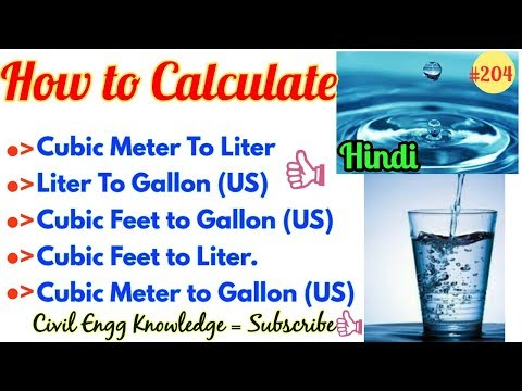 How to Calculate Volume Liter and Gallon in different Size of Tank || Convert Meter Feet Liter Gallo