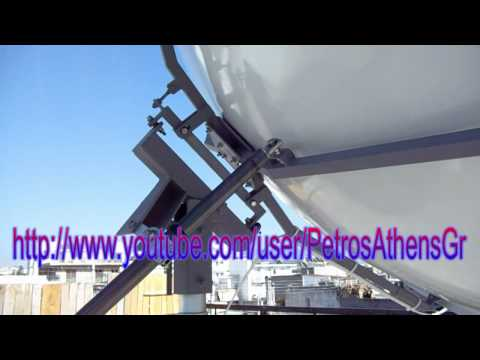 My 2.40 Ku band motorized dish polar mount HD 720p video