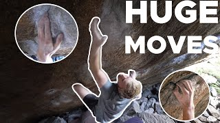 HUGE MOVES SHARP HOLDS || V11/8A Battle by Bouldering Bobat