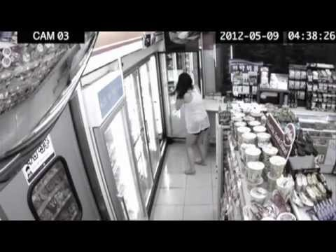 Crazy Girl at 7-eleven