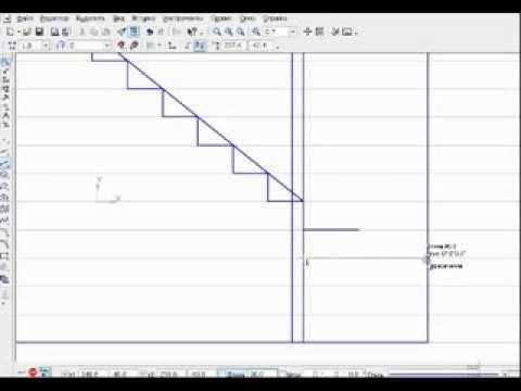 Как сделать лестницу в разрезе