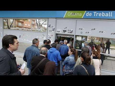 Spain's jobless total reaches a record six million