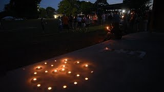 A vigil for peace in Niantic