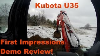 8. Kubota u35 Demo review