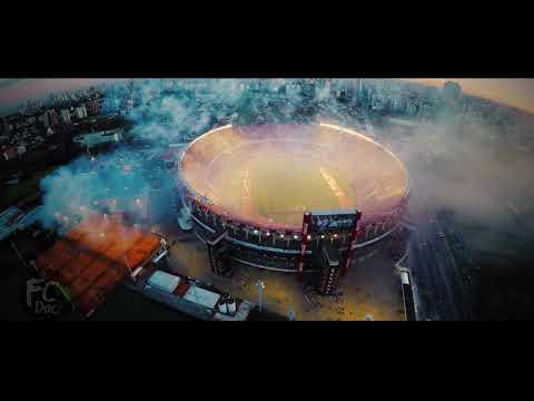 Increible Recibimiento River - Lanus  Copa Libertadores 24/10/2017  DRONE - Los Borrachos del Tablón - River Plate